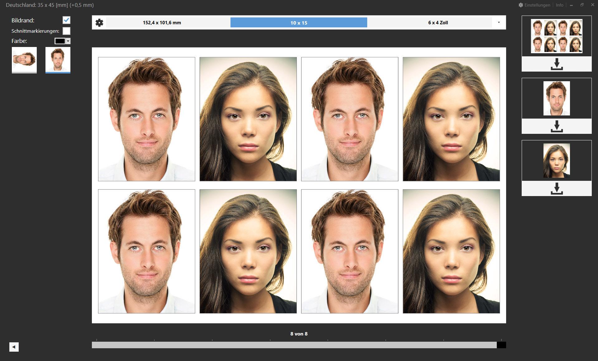 Passbild Plugin Screenshots