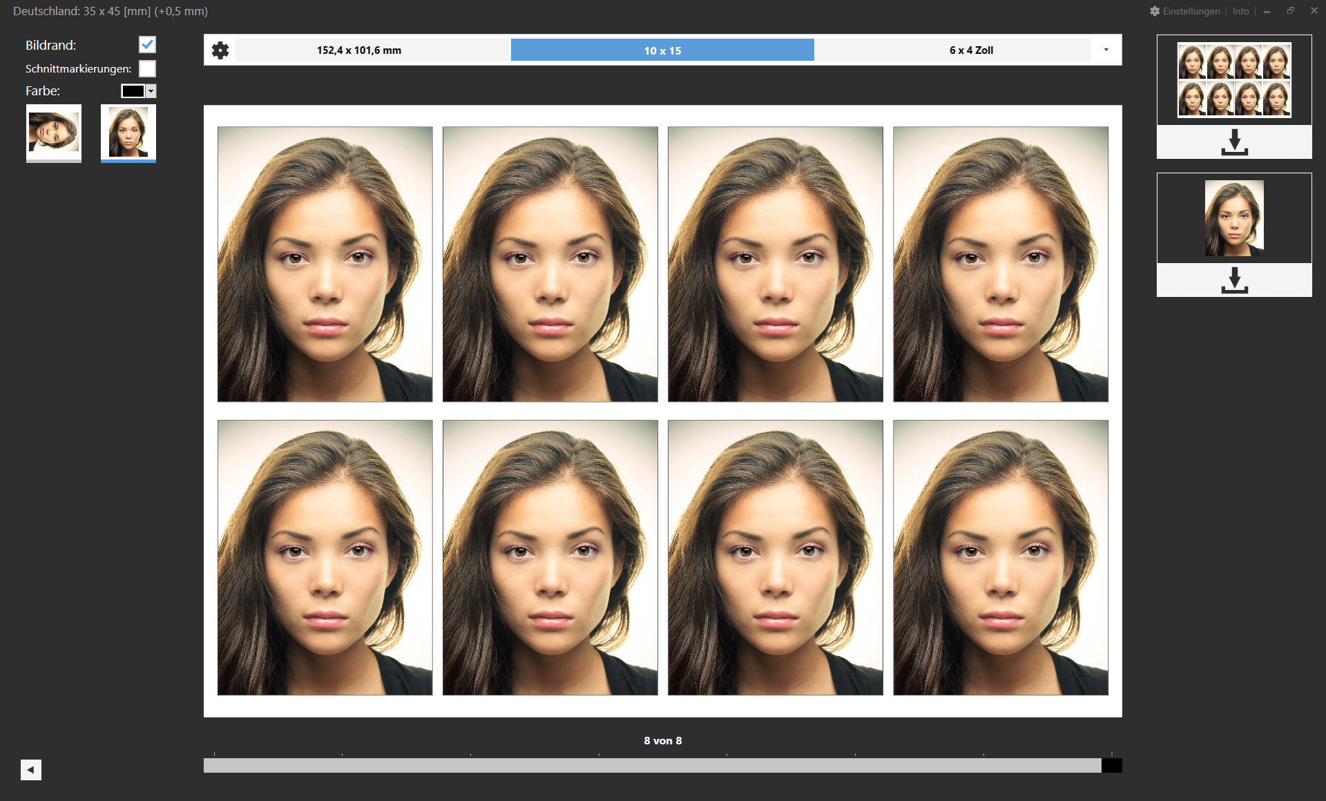 Passbild Plugin für Adobe Lightroom Classic und Adobe Photoshop