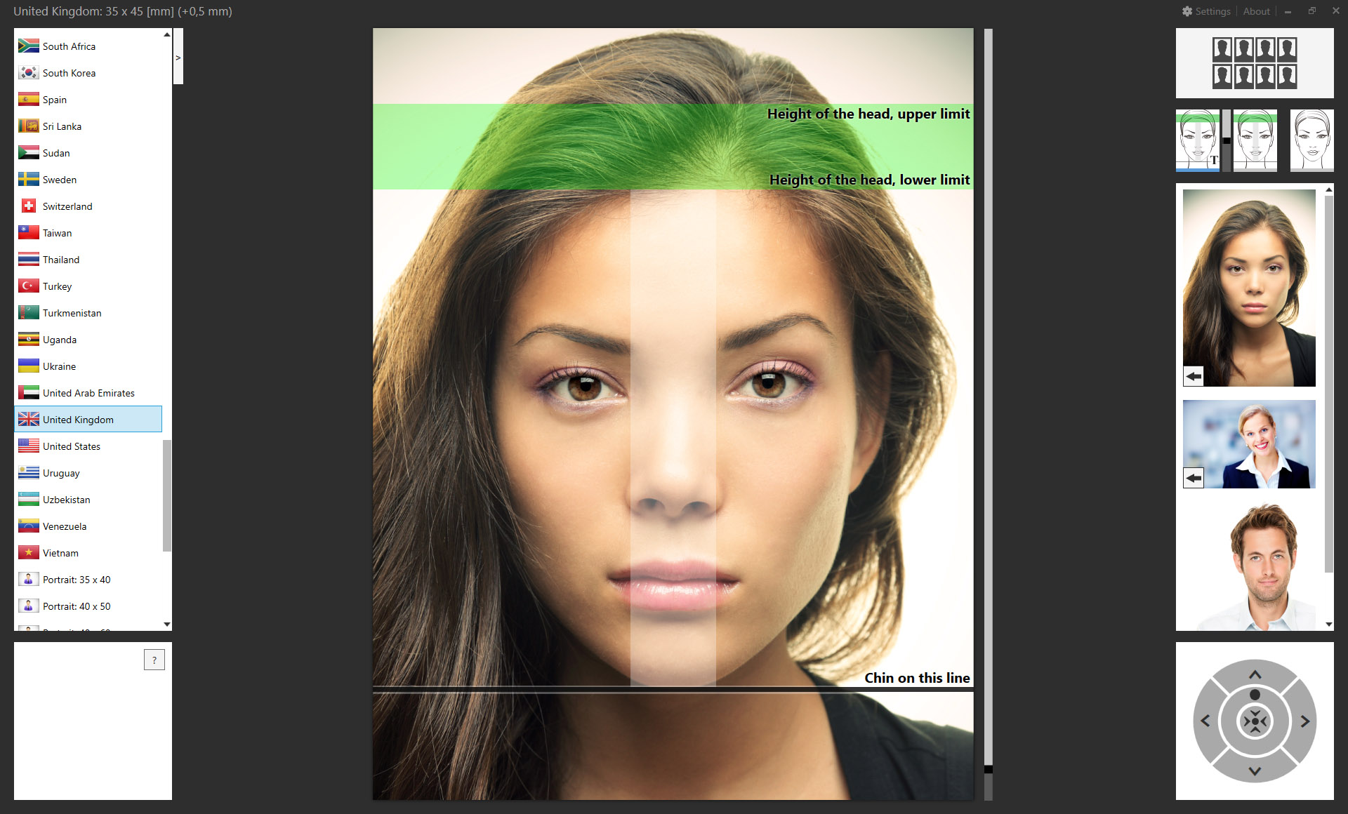 Passport photo plugin for adobe lightroom classic and adobe photoshop passport photo template for united kingdom maxwellsz